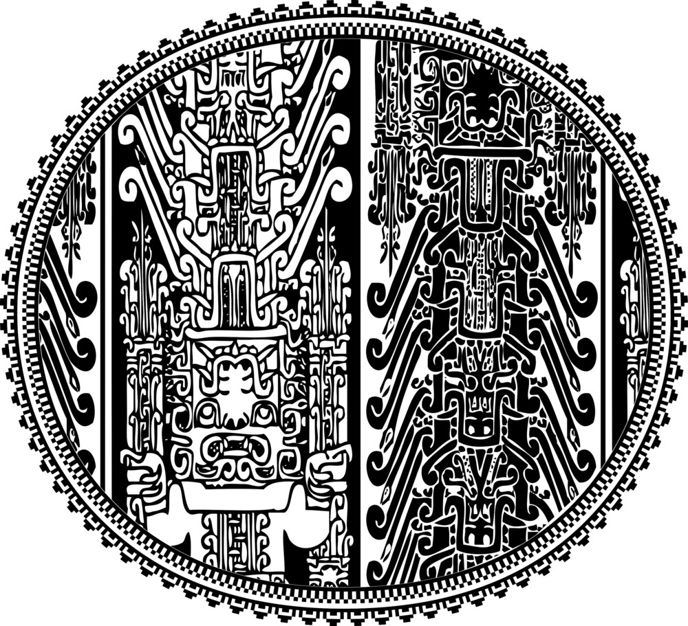 Ancient Letter O. Vector Illustration