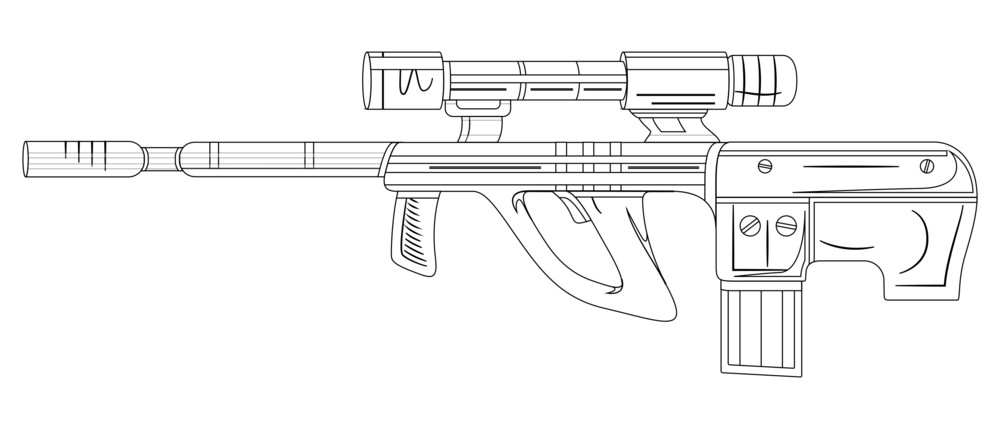 Ancient Shooting Gun Sketching Vector