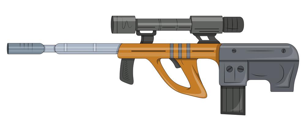 Ancient Shooting Gun Vector Illustration