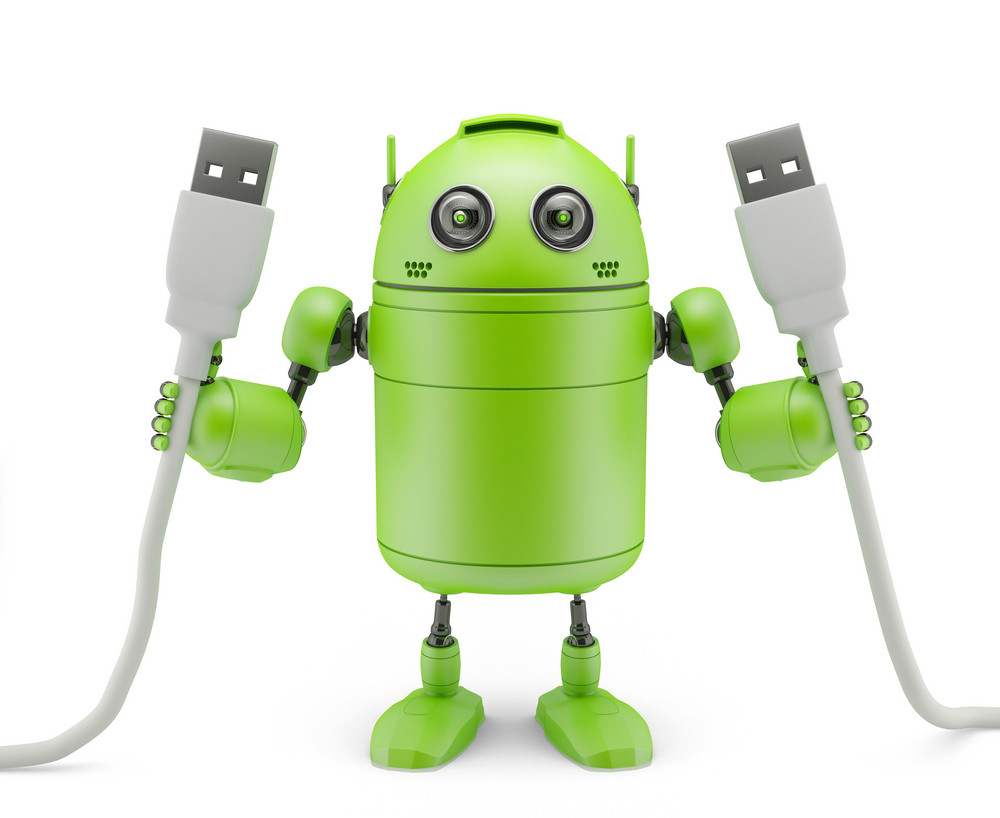 Android Holding Usb Cables