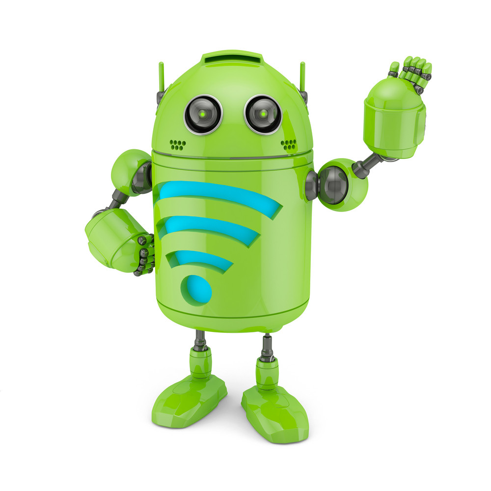 Android With Wifi Symbol