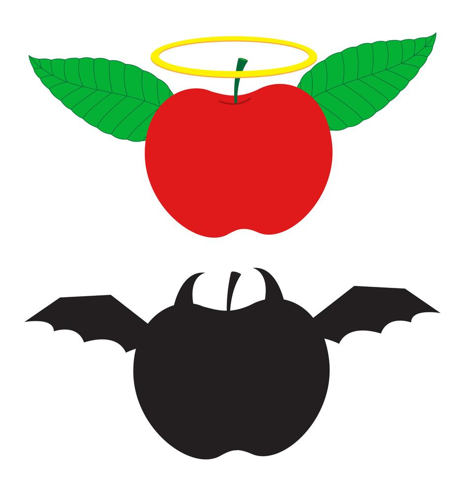 Angel And Devil Apple
