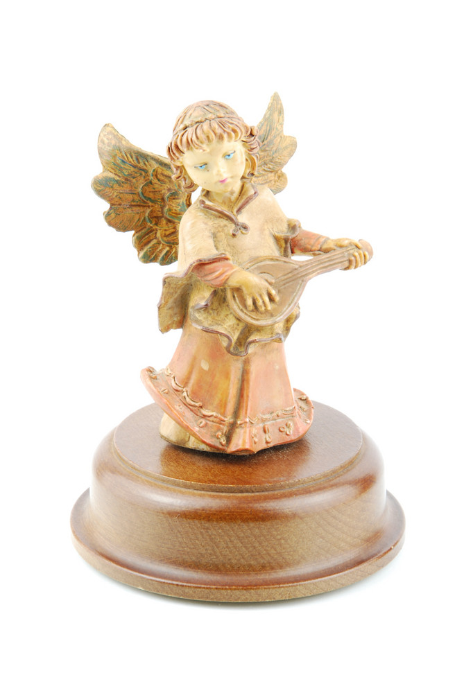 Angel Of Music With Guitar On White