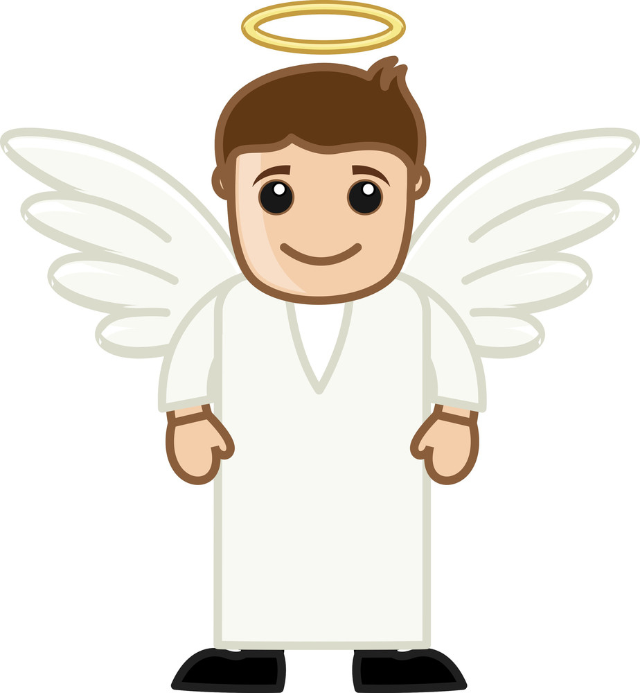 Angel - Vector Character Cartoon Illustration