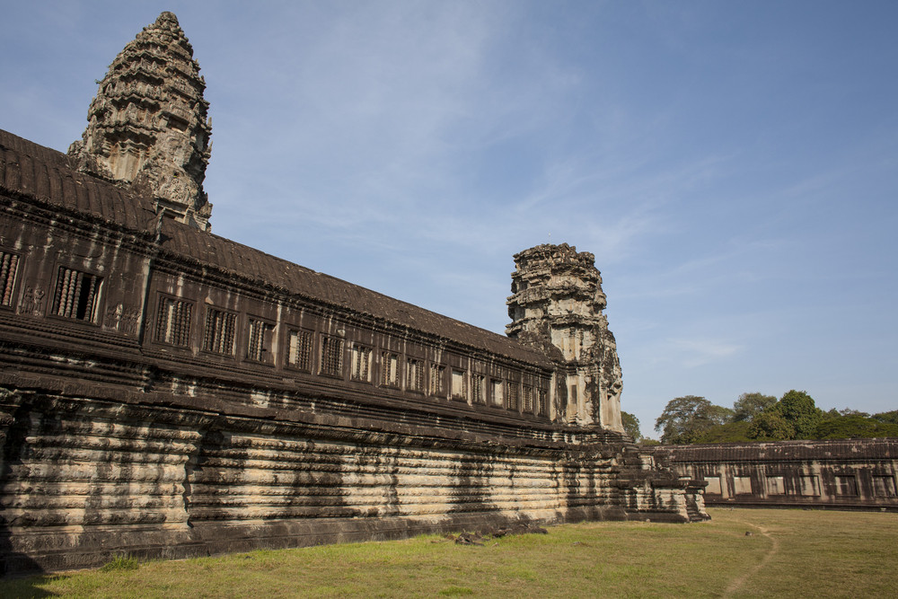 Angkor Wat dentro do detalhe. Camboja