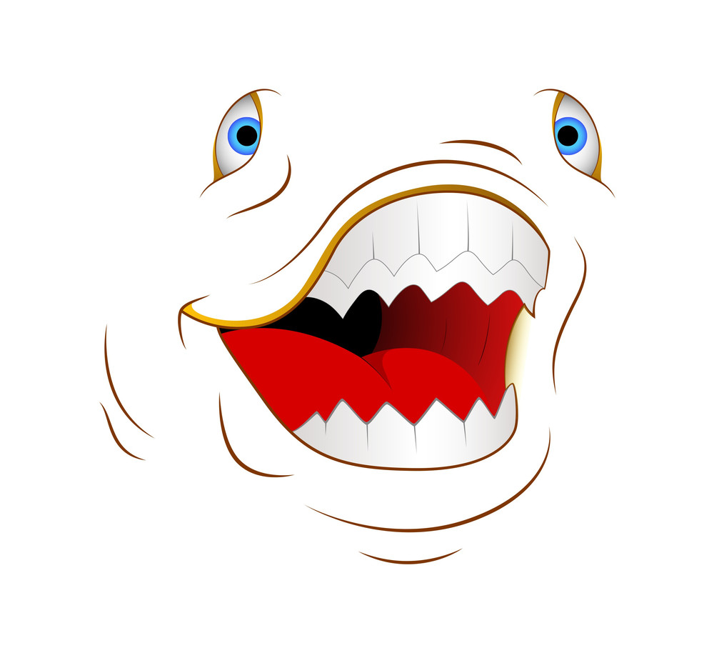 Angry Animal Cartoon Face