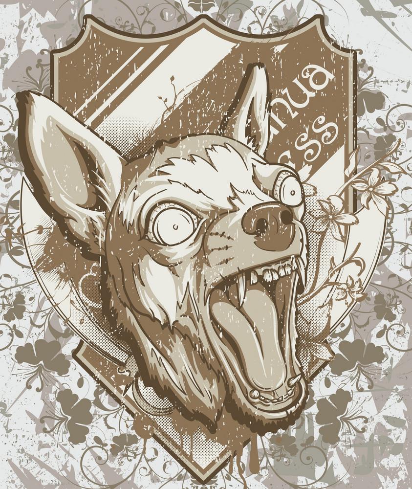 Angry Chihuahua Vector Illustration