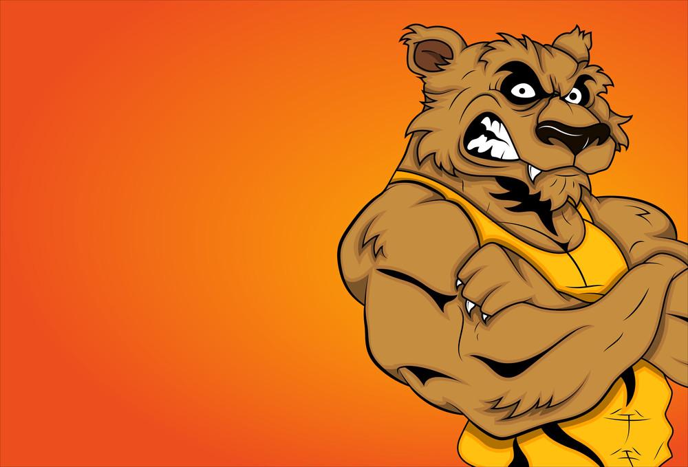 Angry Werewolf Cartoon Character