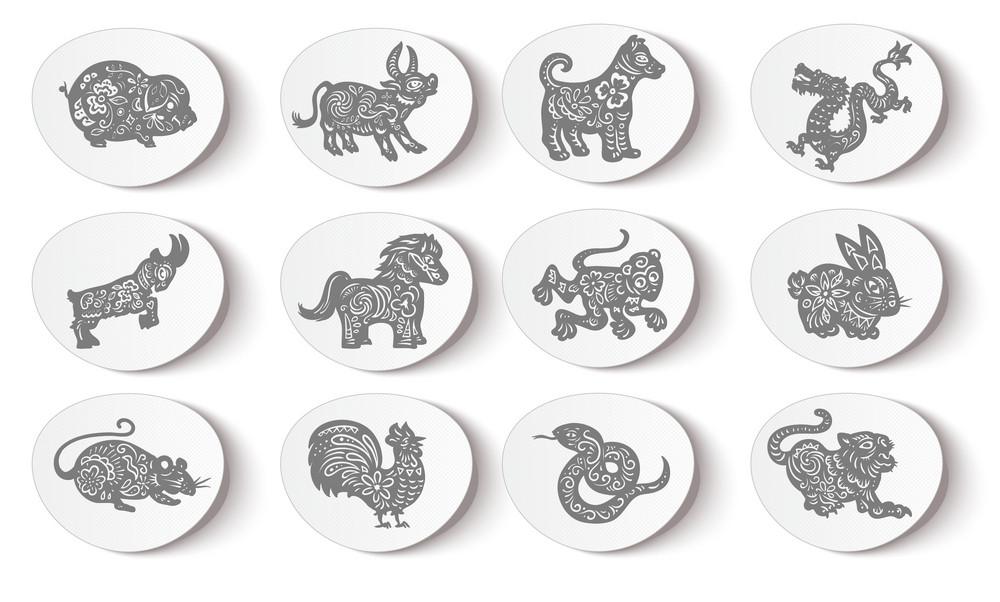 Animal Stickers Vector Illustration