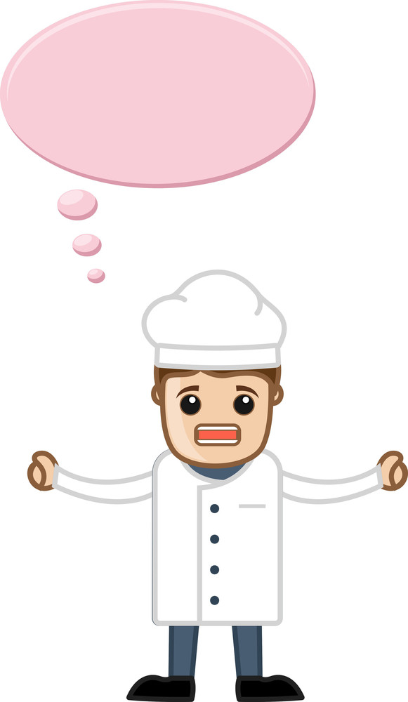 Annoying Chef With Speech Bubble - Cartoon Business Vector Character