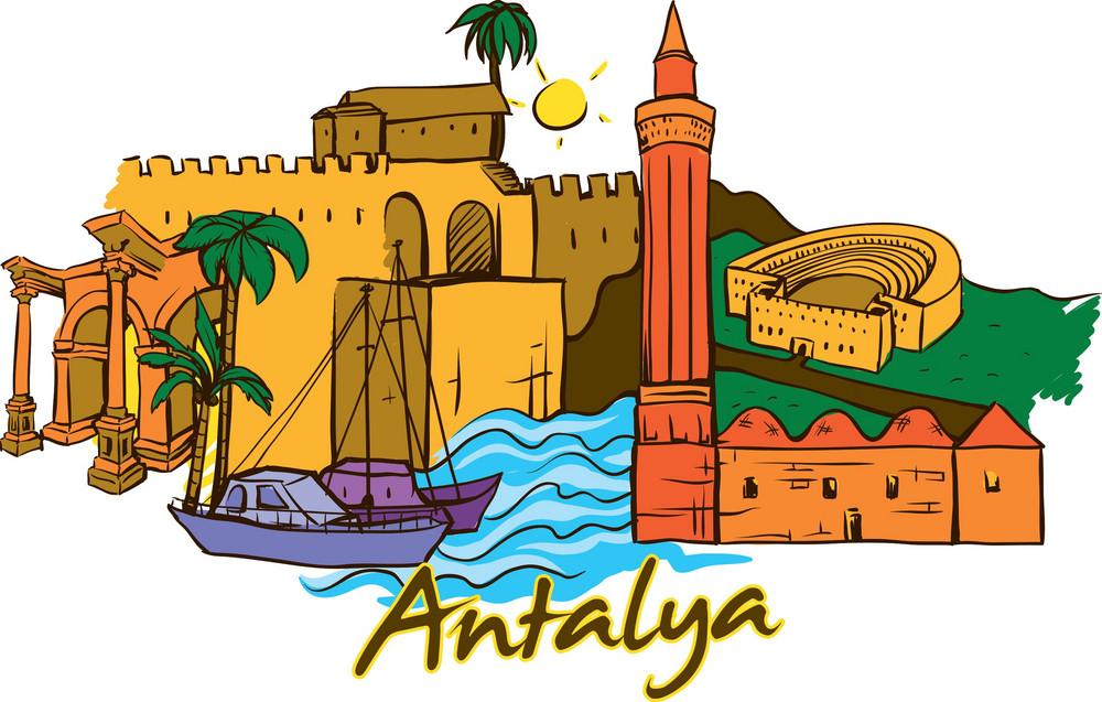 Antalya Vector Doodle