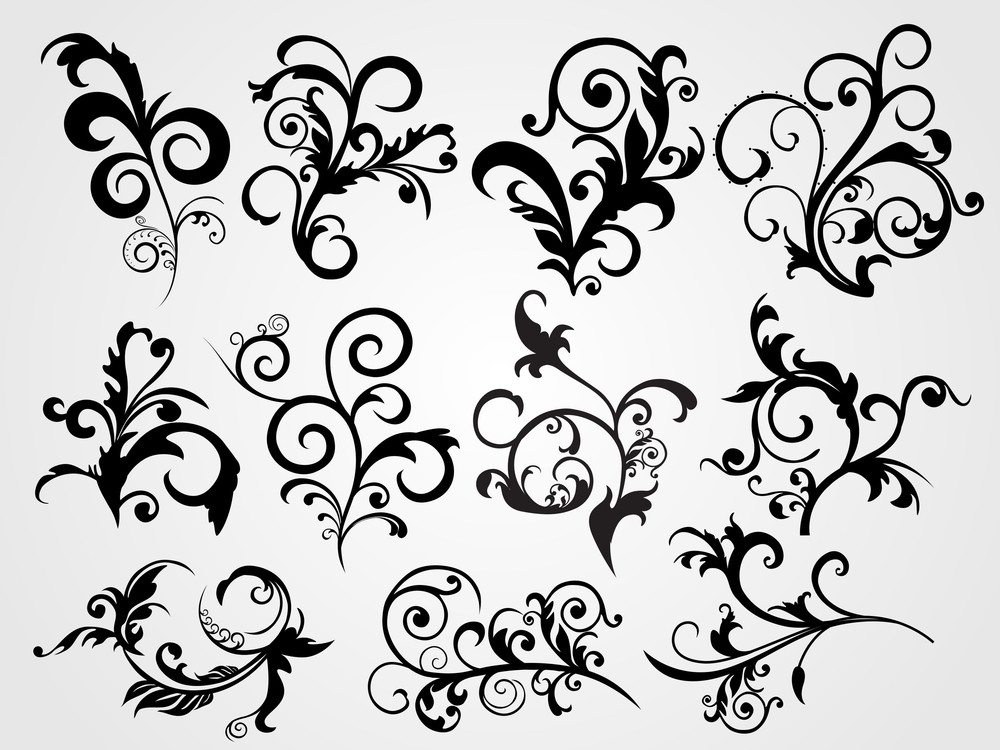 Antike Black Silhouette Tattoos