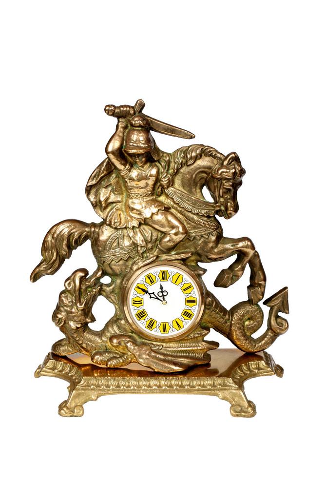 Antique Bronze Clock, Minutes To Twelve.
