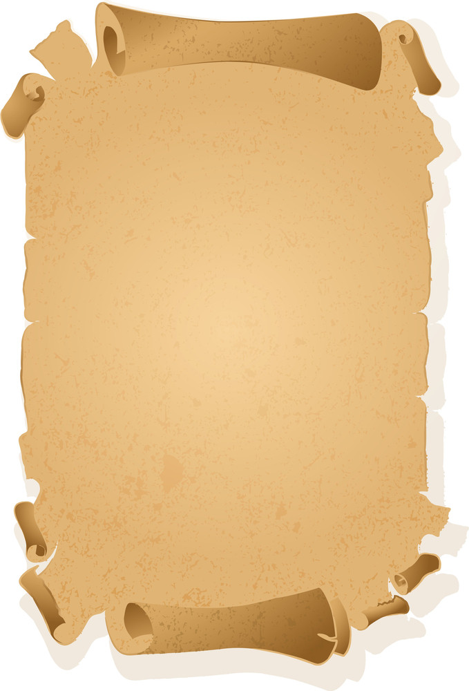 Antique Paper Scroll. Vector.