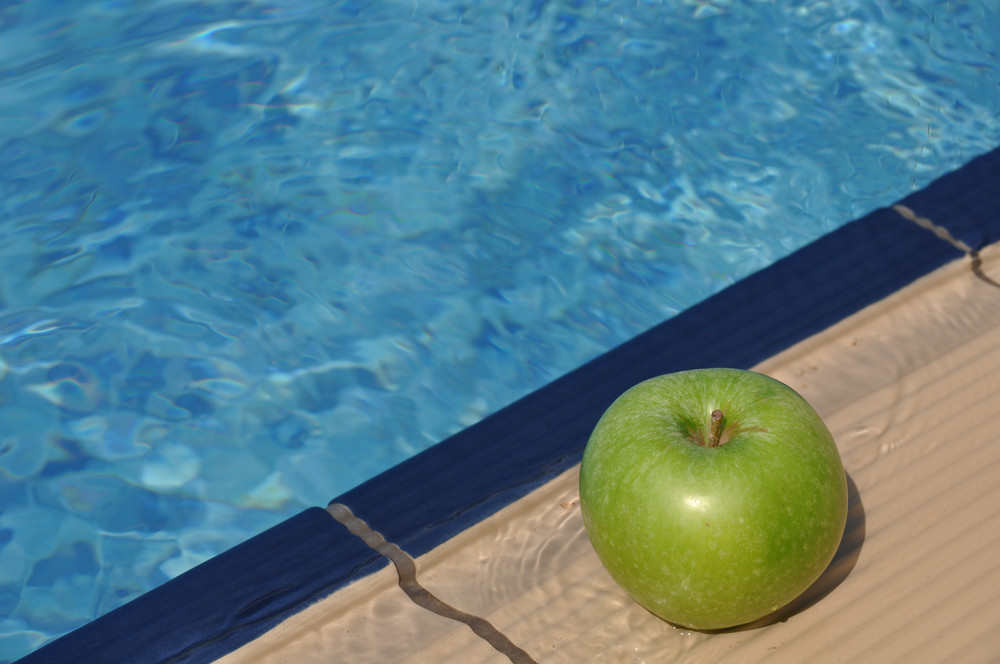 Apple At The Pool