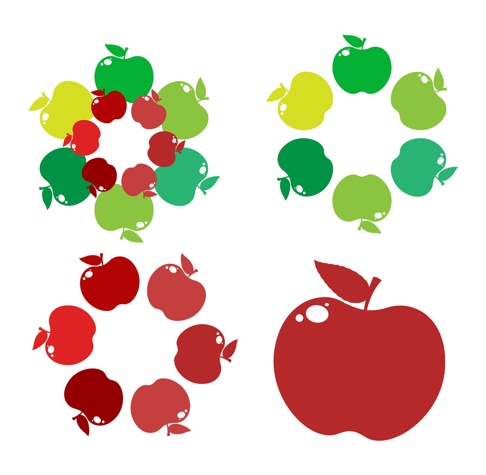 Apples Circles And Frame