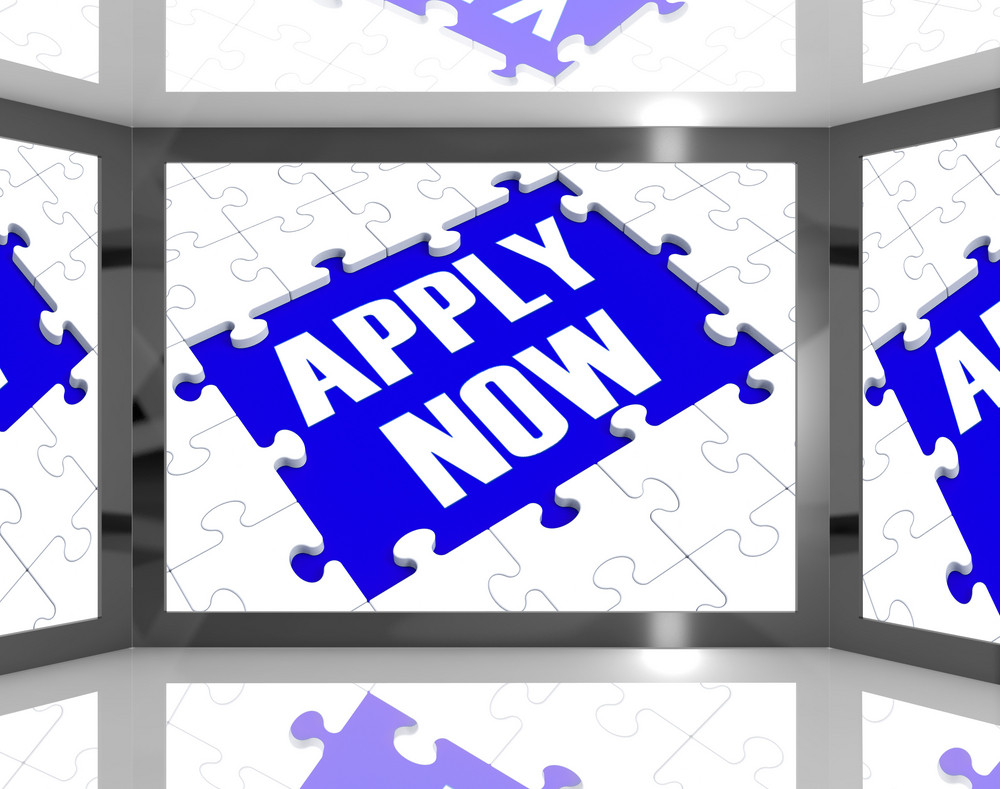 Apply Now On Screen Showing Job Recruitment