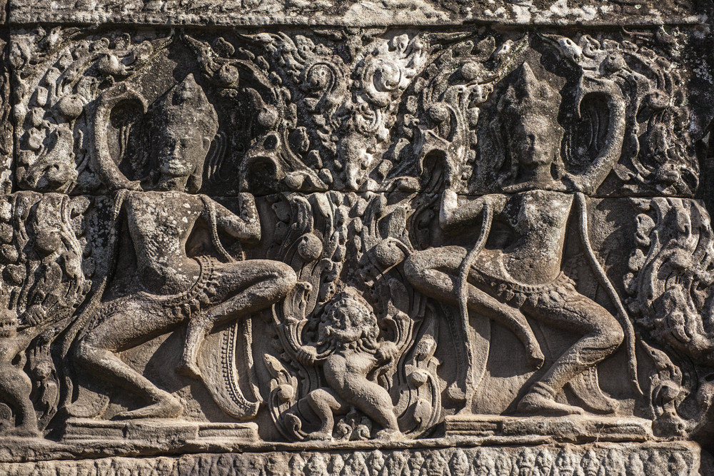 Apsara. Latch on rock. Siem Reap. Cambodia