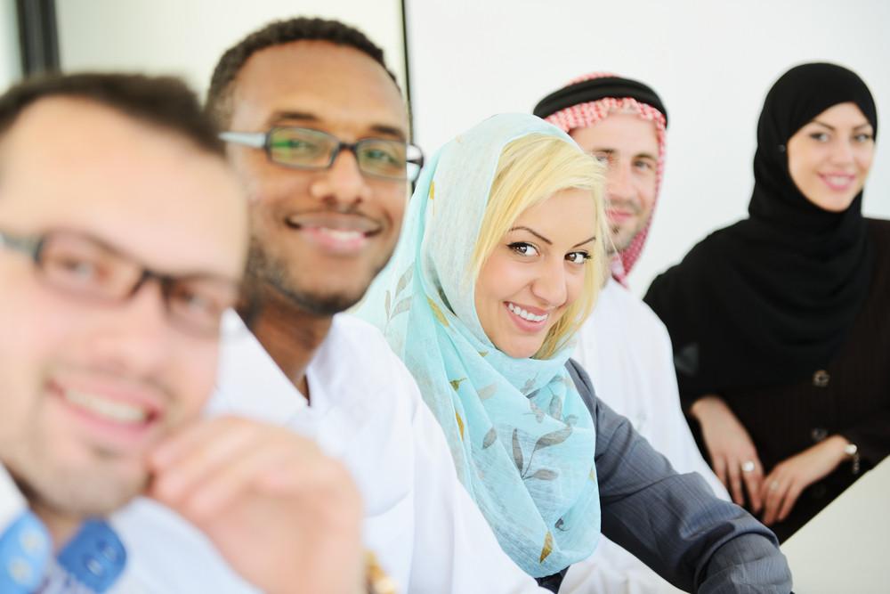 Arabic people having a business meeting