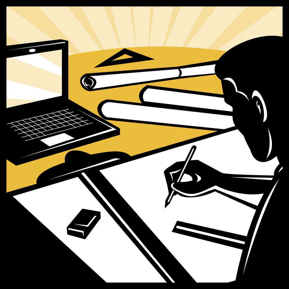 Architectural Draftsman Drawing Computer