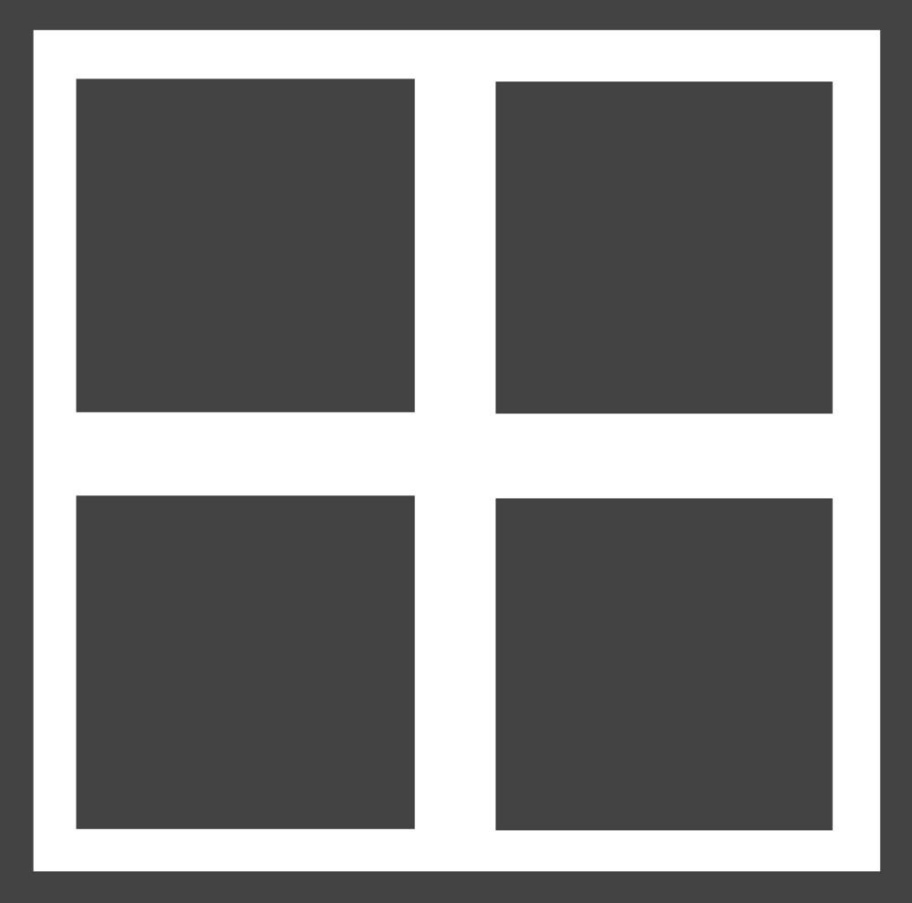 Arrange 3 Glyph Icon