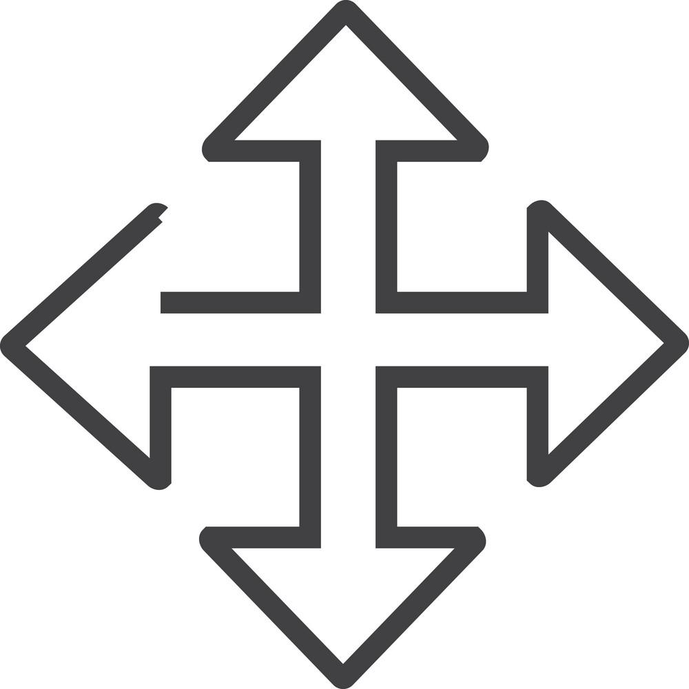 Arrow 16 Minimal Icon