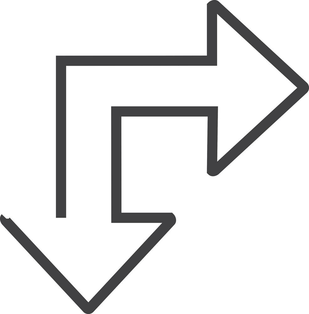 Arrow 4 Minimal Icon