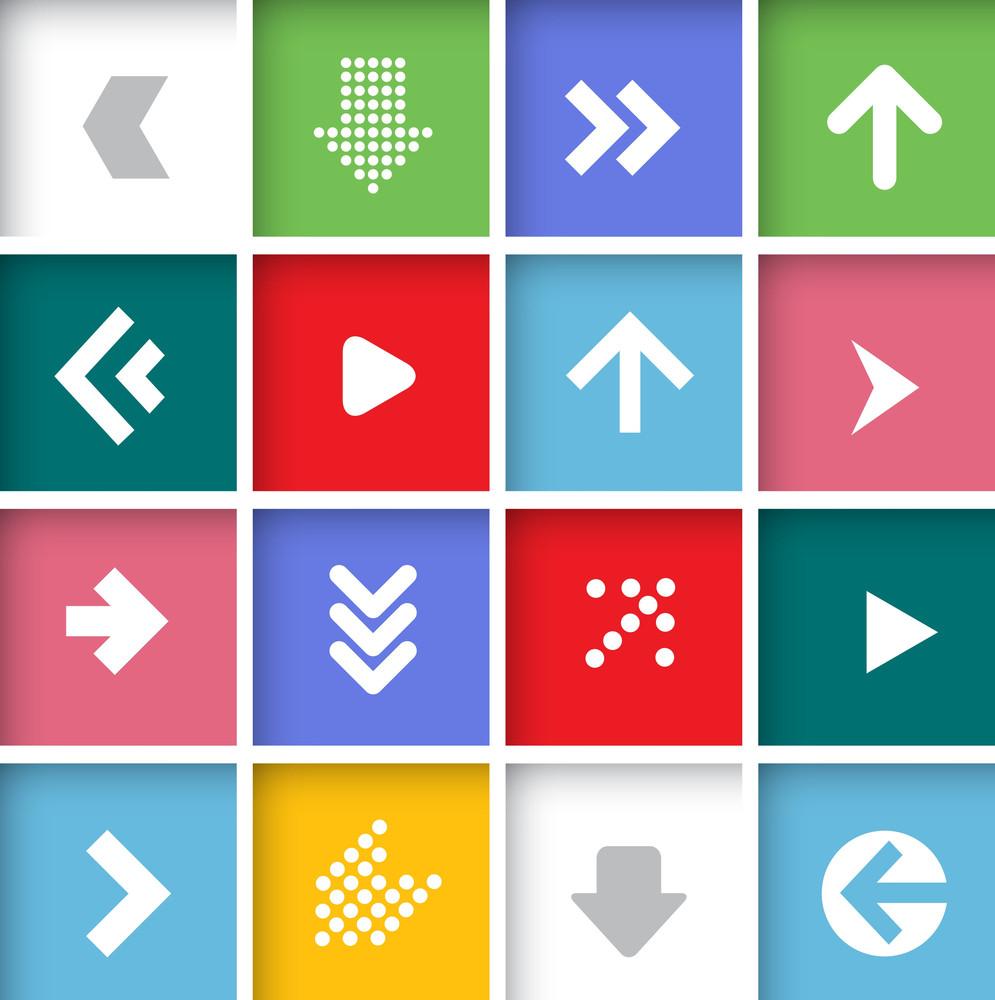 Arrow Icon Set. Vector.