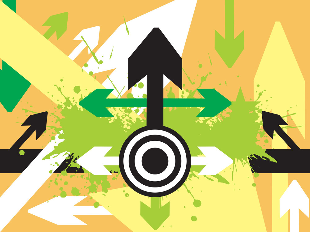 Arrow Pointing Up Vector Banner