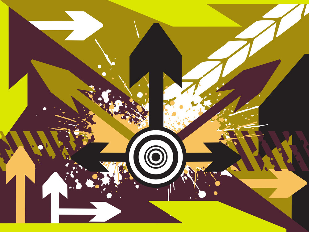 Arrow Pointing Up Vector Illustration