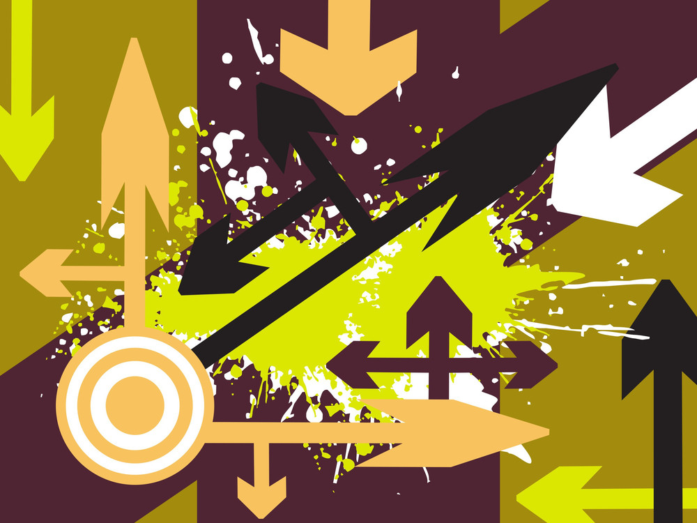 Arrow Pointing Up Vector Wallpaper