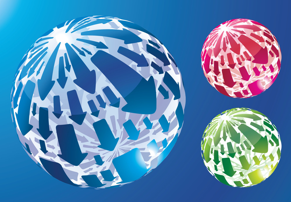 Arrow Spheres. Vector.