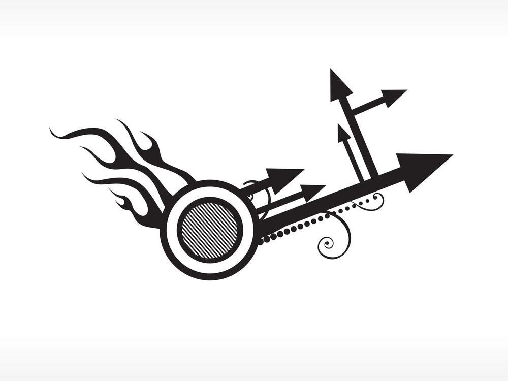 Arrow With Fire