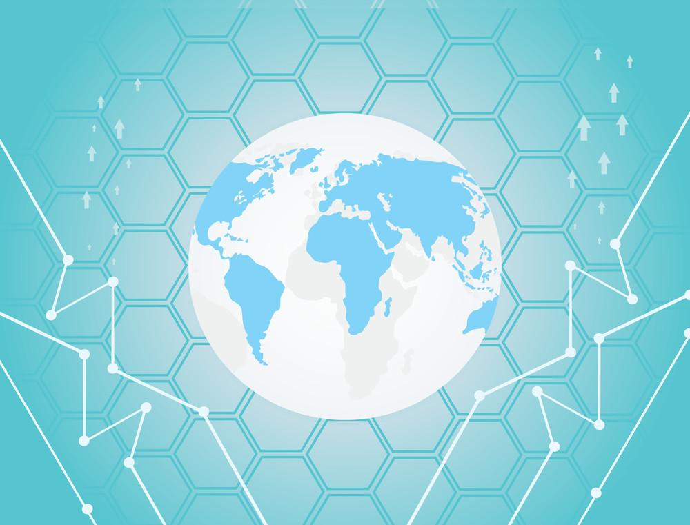 Arrowhead Background With Globe