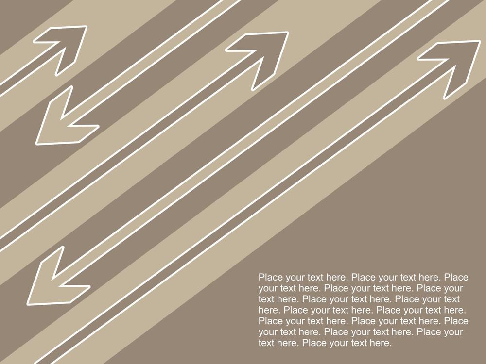 Arrowhead Background With Sample Text