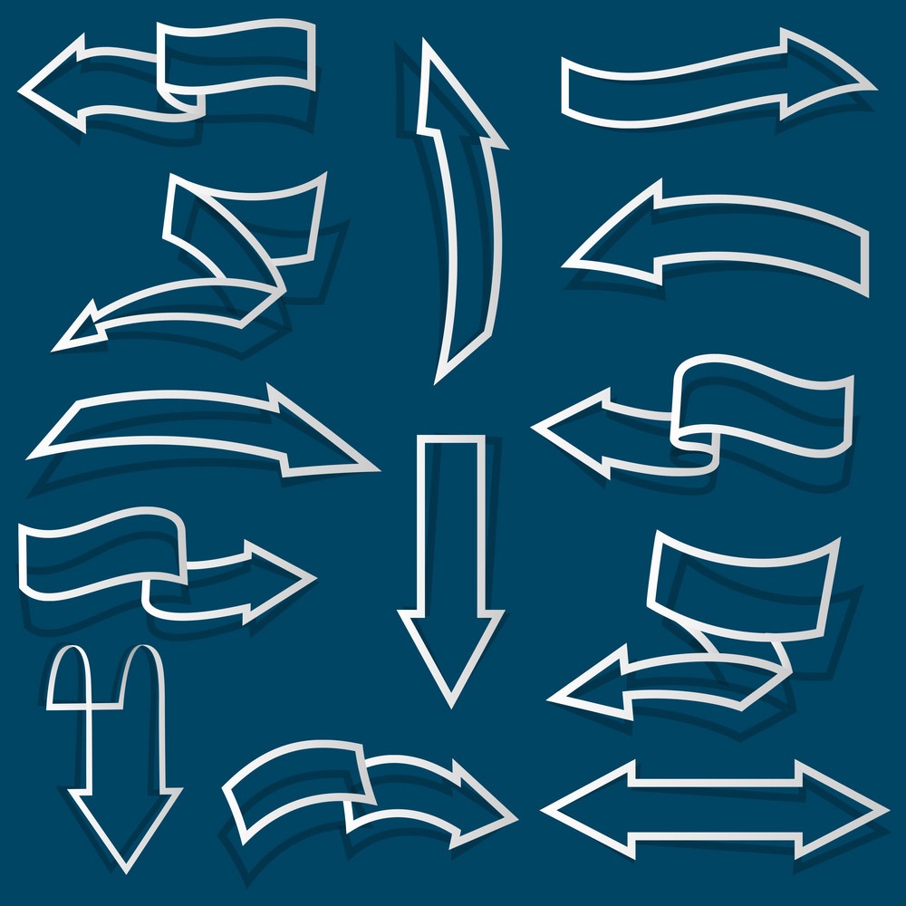 Arrows From Paper Outline