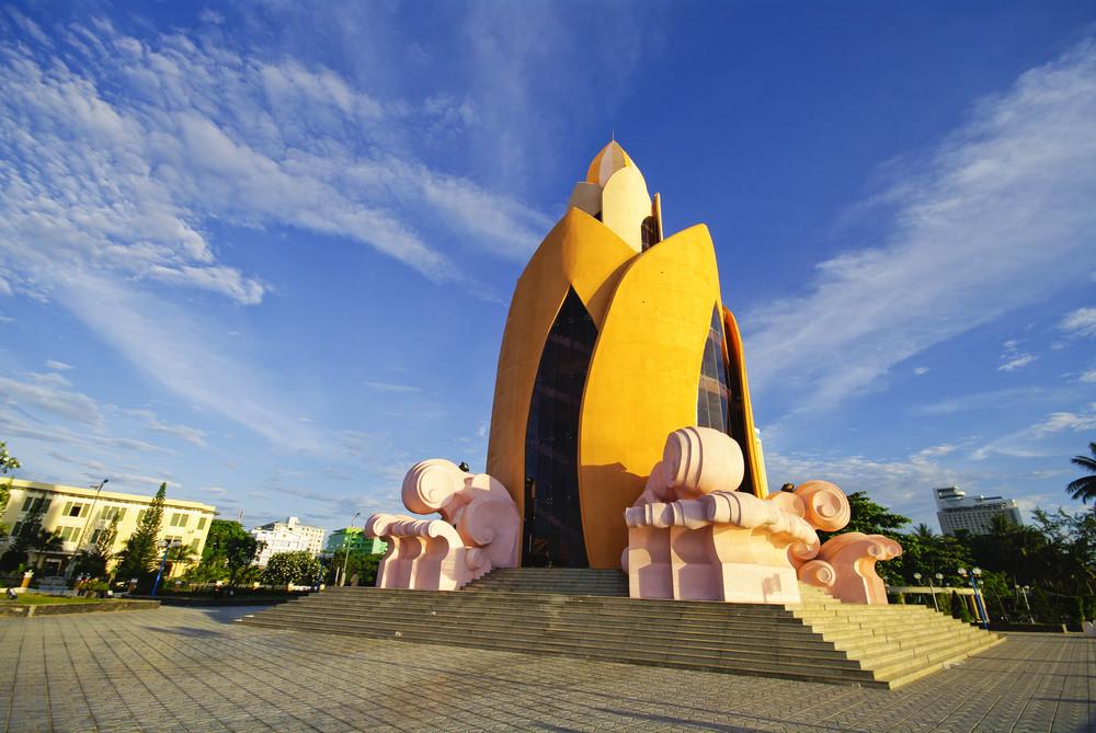 Art Building Vietnam on blue sky