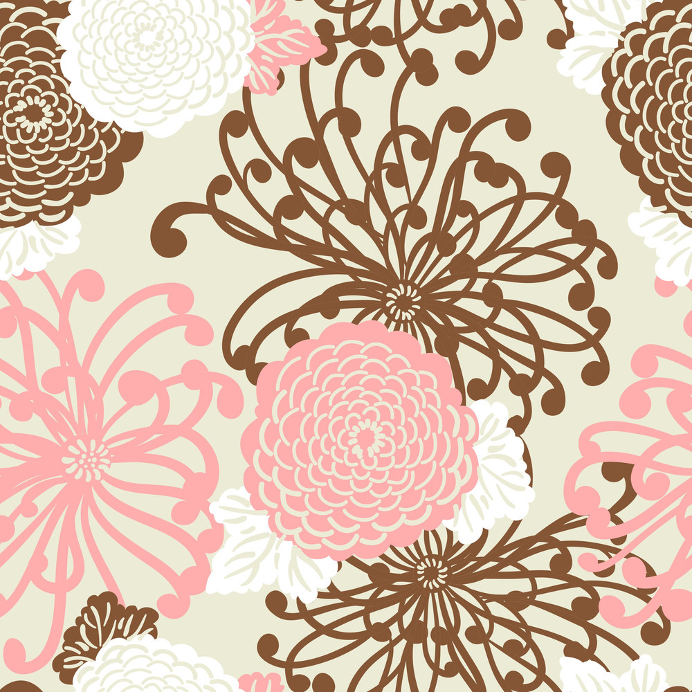 Art Deco Flower Seamless Pattern Royalty Free Stock Image