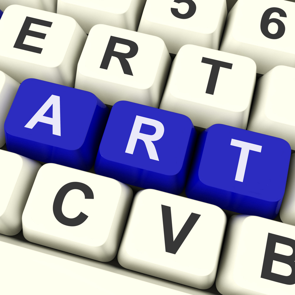 Art Key Shows Drawing Or Painting