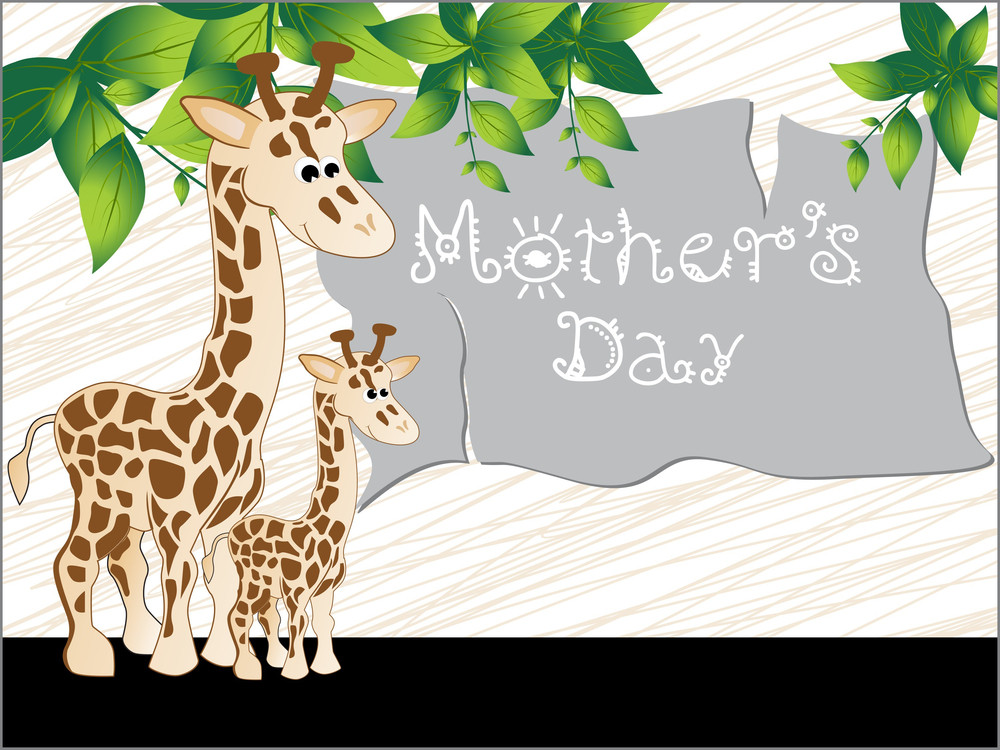 Artistic Design Background With Giraffe