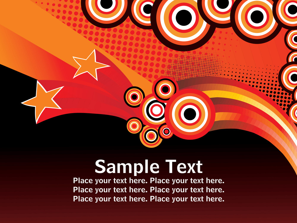 Artistic Design Background With Sample Text