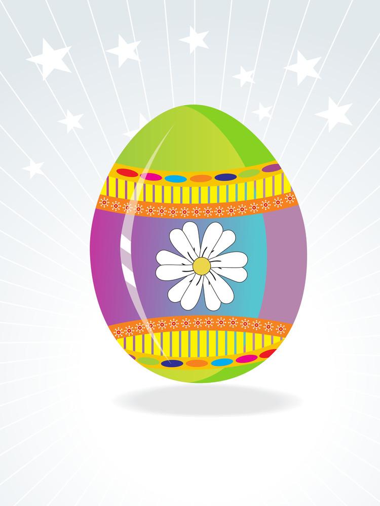 Artistic Floral Pattern Easter Egg