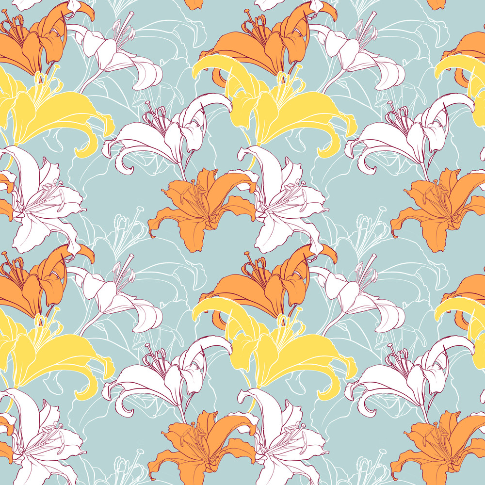 Artistic Floral Seamless Texture. Vector Illustration
