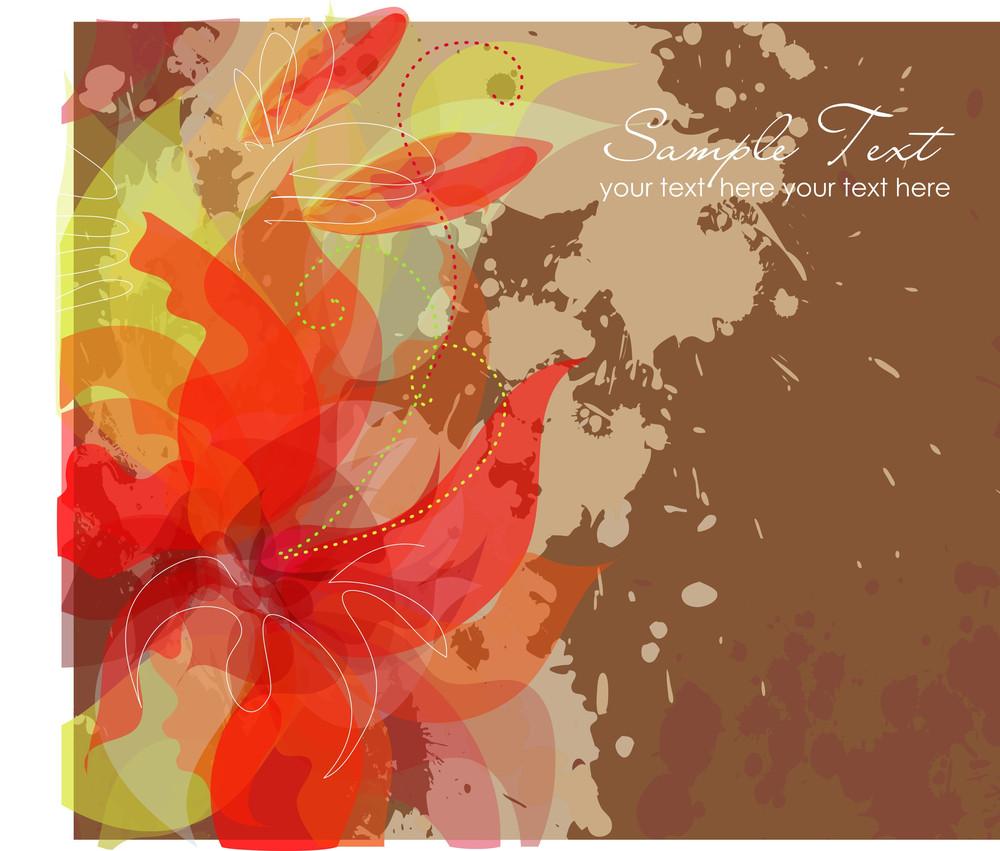 Artistic Flower Background