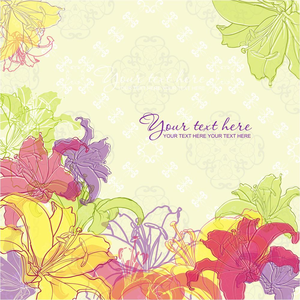 Artistic Flower Background.