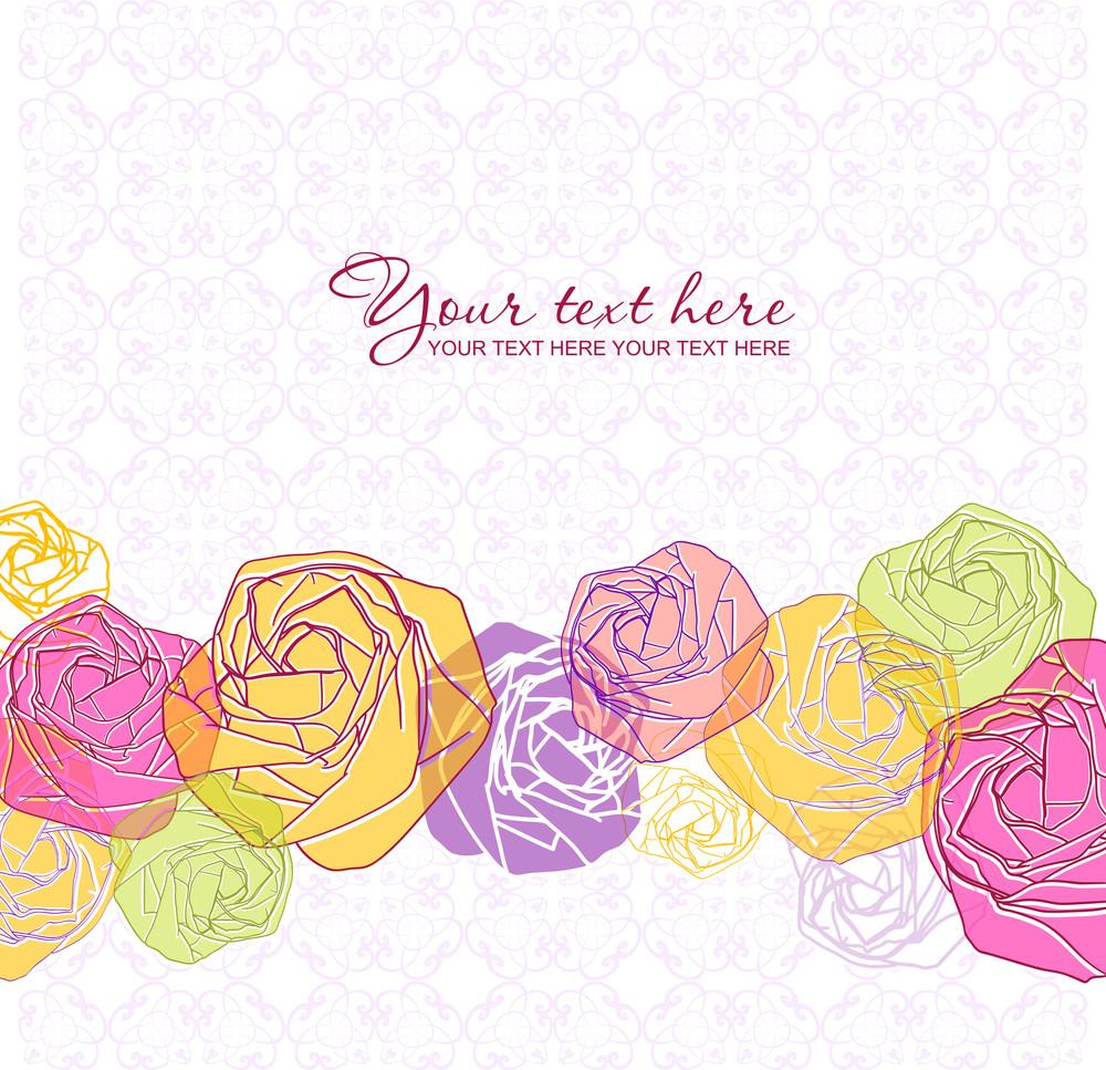 Artistic Flower Greeting Card.