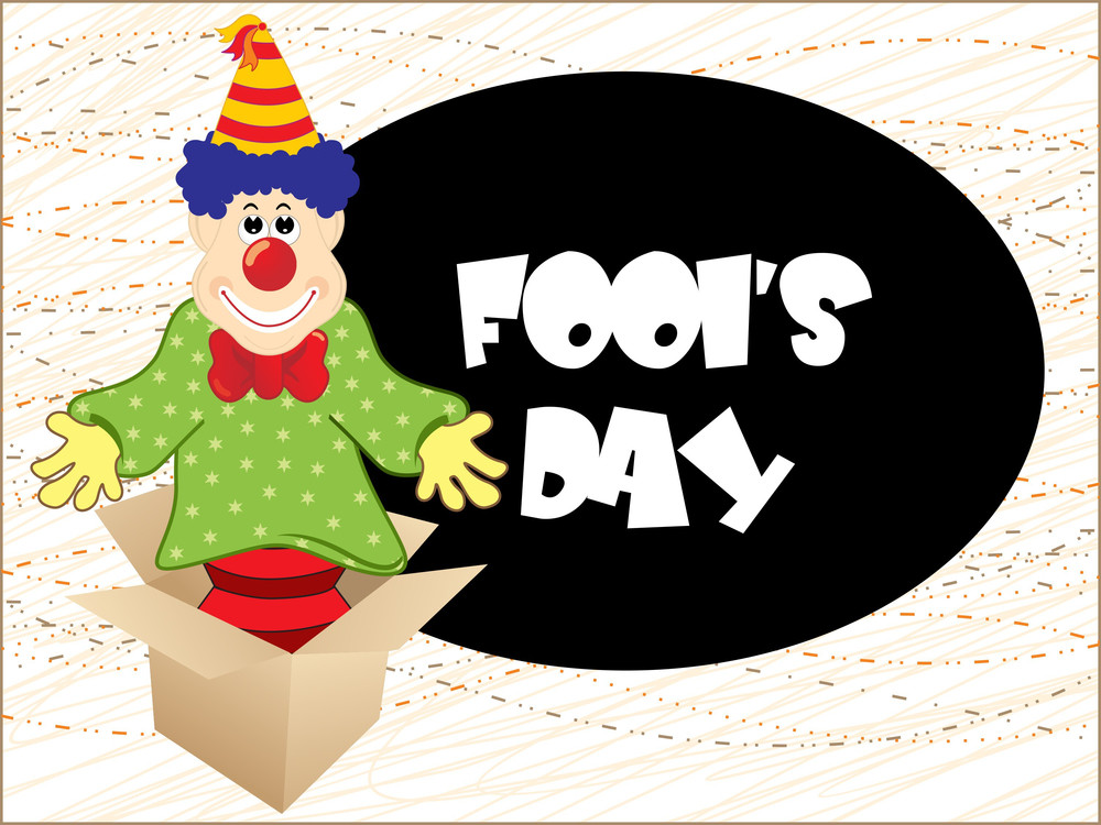 Artistic Fools Day Background