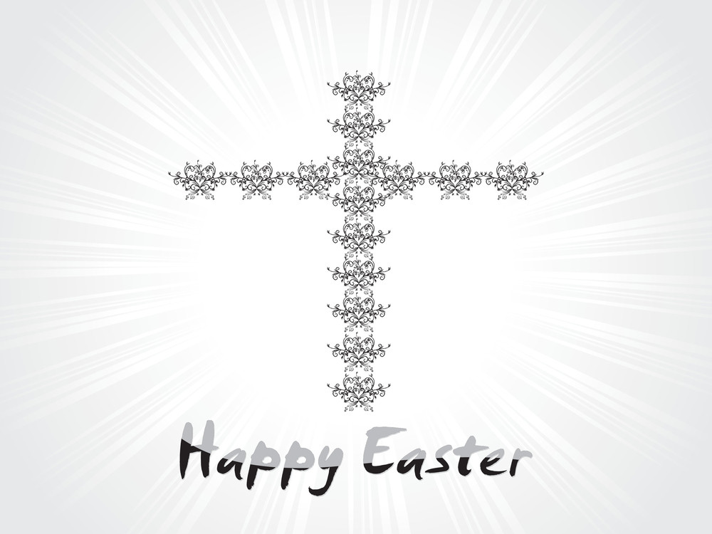 Artistic Pattern Cross With Rays Background