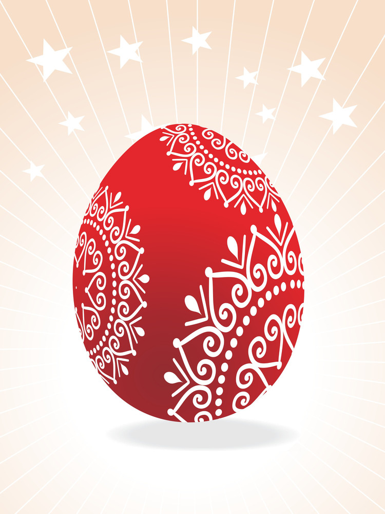 Artistic Pattern Large Red Egg