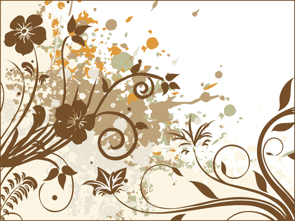 Artistic Pattern With Texture Background